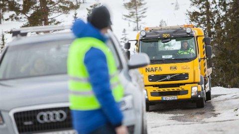 NAF melder om kraftig økning i assistanser i januar. Kulda har skylda, svært mange har nemlig startproblemer nå. Foto: NAF.
