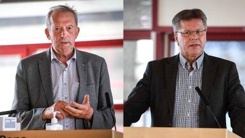 Johan Petter Røssvoll og Jan Erik Furunes. Arkivfoto.