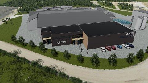Slik blir det nye anlegget til Kvarøy Smolt inne på Mo industripark seende ut.