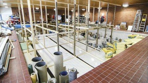 Bygges om: Politikerne i formannskapet er klart imot å bygge opp basseng i det gamle bassengrommet på Brøttum.Foto: arkiv