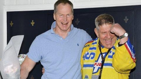 Kjært gjensyn: Arne Bergseng møtte igjen Steinar Nydal etter 26 år. De to fant umiddelbart igjen tonen.Foto: Petter Sand