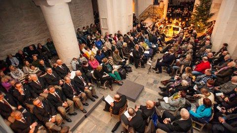 Vakkert: For veldig mange blir det ikke julekveld uten tradisjonen med å gå i Ringsaker kirke på morgenen. Den vakre konserten avholdes for 33. gang.