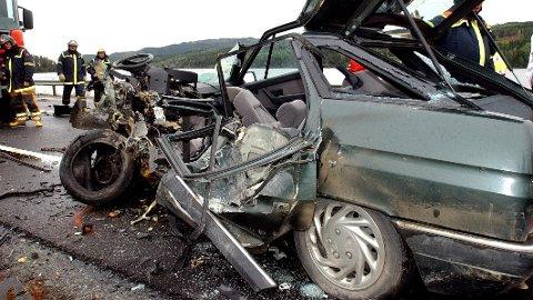 Dødsulykke på E6. (Foto: Svein Sjølie)