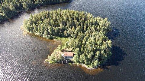 Sammen med hytta følger nesten to mål tomt. Foto: Aktiv Ringsaker.