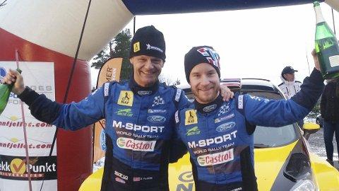 NM-klare: Ola Fløene (t.v.) og Mats Østberg sesongdebuterer med Sigdalsrally (NM) lørdag. Foto: Arkiv