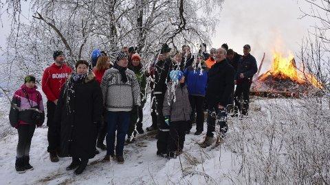 Frammøte: Både politikere og bønder var møtt fram til Bondelagets markering mot landbruksmeldingen tirsdag. Foto: Ivar Bae