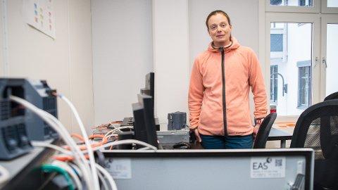 KAN VINNE: Siv Hilde Houmb kan bli «Female Entrepreneur 2017». Hennes bedrift, Secure-NOK, har spesialisert seg på programvare som skal forhindre cyberangrep.Foto: Jo E. Brenden