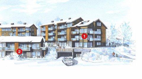 Går unna: Mange ønsker leiligheter på «The View» på Sjusjøen. En snau uke etter at prosjektet ble lagt ut var 16 solgt.Illustrasjon: HK Arkitekter AS