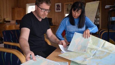 Runar Henanger og Anja Sivertsen koordinerer leteaksjonen som er dratt i gang av den savnedes venner.