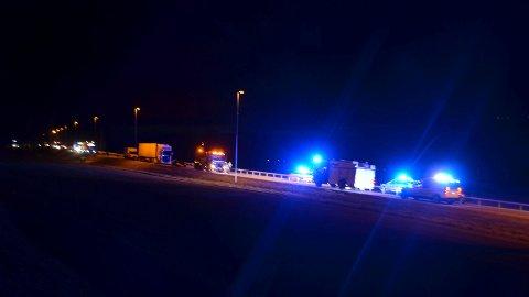 Dødsulykken skjedde rett nord for Biri Travebane. En lastebil i sørgående retning kjørte på en person som omkom.