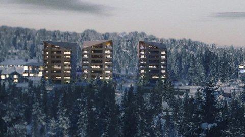 Høyt: Buchardt vil bygge høyt på Sjusjøen. Illustrasjon: NORDIC – OFFICE OF ARCHITECTURE
