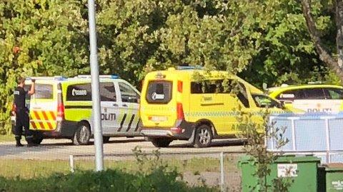 Politiet tok kontroll på en person etter episoden. Foto: Privat