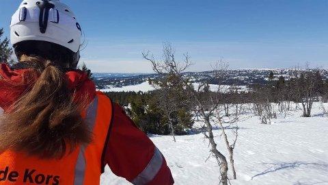 I beredskap: På Sjusjøen har Brøttum Røde Kors hjelpekorps vært i beredskap slik de pleier å være.