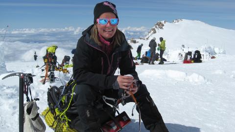 HARDHAUS: Beathe Johannessen (39) fra Gaupen har aldri sett på seg sjøl som spesielt tøff, men er nå en av kun 15 i Norge som har unnagjort 7 Summits, altså det høyeste fjellet på hvert kontinent.