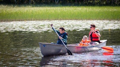 Aktivitetsleder: Sommerjobben som aktivitetsleder i Ringsaker kommunen innebærer også ulike former for friluftsliv.
