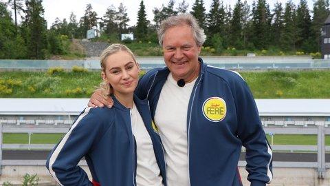 PÅ TV: Bent Svele (58) og Mia Svele (19) fra Furnes skal bidra til underholdningen på NRK den kommende høsten.