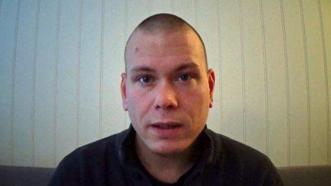 DREPTE FEM: I 2017 la terroristen Espen Andersen Bråthen ut en video på Youtube hvor han kom med en skremmende advarsel. Foto: Privat