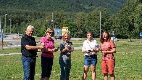 TEAMET BAK: Prosjektleder Niels Røine, rådgiver Liv Bjerke, Bente Nysæter, Kjerstin Lundgård og Gudrun Sanaker Lohne lanserte prosjektet.