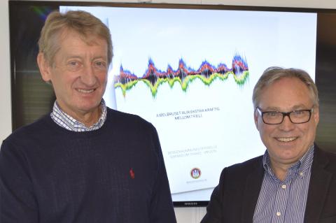 Birger Hungerholdt er daglig leder i sponsorselskapet Interspons. Her sammen med sykkelpresident og tidligere leder i Bergen 2017 AS, Harald Tiedemann Hansen.