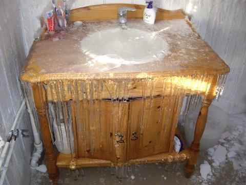 Her har temperaturen vært i laveste laget på badet!