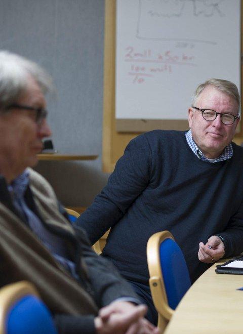 Leder: Magne G. Vegel (til høyre) er daglig leder i Pan Innovasjon. Her sammen med Svein Eystein Lindberg.