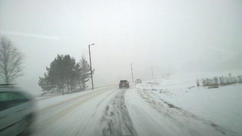 Vinter: Slikt vinterføre kan komme overraskende på dem som har dårlige dekk.