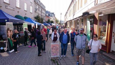 Som vanlig er det et yrende folkeliv på Søndre torg under Ringeriksdagen.