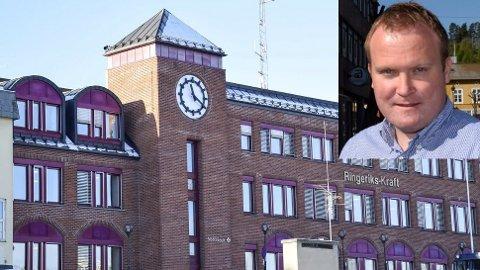 Ringeriks-Kraft har allerede flytta ut av lokalene. Nå vil rådmannen bruke 13 millioner på oppussing. Hans-Petter Aasen (Sp, innfelt) er sterkt uenig.
