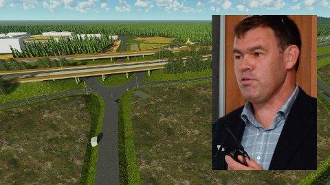 ENDRINGER: Frederik Skarstein gleder seg over at Fellesprosjektet gjør innsparingstiltak i planene for kryss ved Helgelandsmoen.