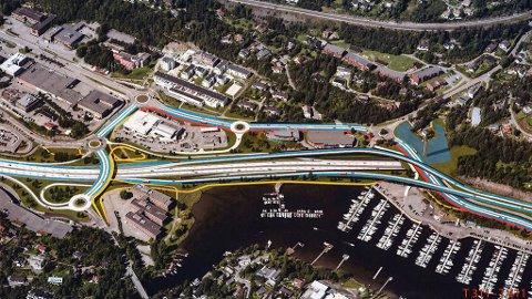 FULL STOPP: Statens vegvesen avslutter fra nyttår arbeidet med å planlegge ny E18 vest for Oslo. Årsaken er at pengekranen er stanset.