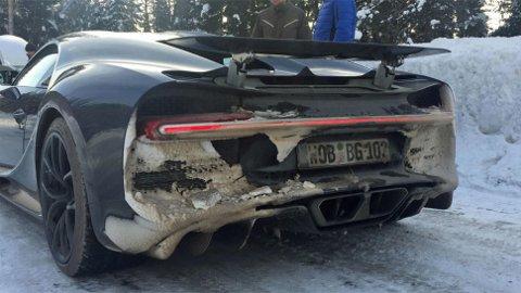 Det er nok ikke så mange Bugattier som får oppleve tosifret antall kuldegrader og snø i Hedmark, men det fikk disse.