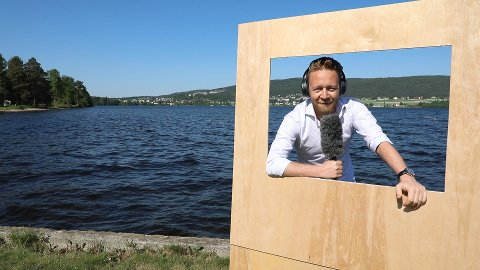 I TV-RUTA: Sportskommentator Asbjørn Myhre er klar for Randsfjordfestivalen.