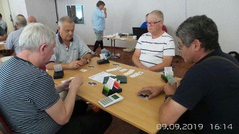 Vinnerparet Alf Markusen, Oslo og Stig Risberg, Hen møter rumensk motstand.