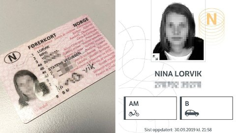 ENKLERE: Nå kan du få førerkortet ditt på mobilen. Foto: Skjermdump Førerkort-appen