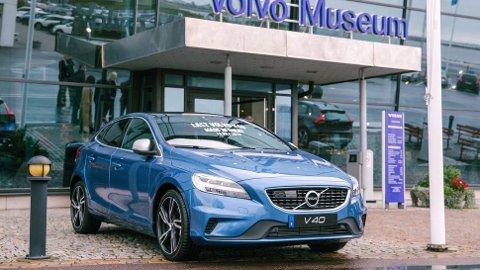 MUEUM: Det aller siste eksemplaret som er bygget av Volvo V40 har nå tatt turen fra fabrikken i Belgia – og til Volvos museum i Sverige.