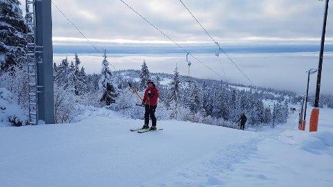 HEISEN ER ÅPEN: Holeværingen John Gunnar Swang gleder seg til skihelg på Norefjell.