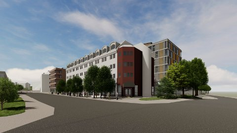 KVARTALET: Hotellområdet skal bygges ut som et kvartal. Dagens hotellbygg består, men hotellet utvider med et nytt bygg i bakkant. Dagens Citygården erstattes med et nytt bygg rett ved siden av hotellet. Nå er en viktig hindring ryddet av veien.