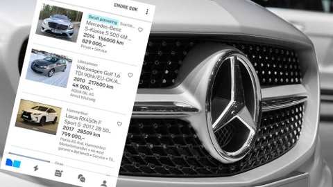 HOT: Mercedes er populært på bruktmarkedet. Bare en modell på topplista er elektrisk.