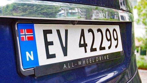 SNART OPPBRUKT: Snart dukker en ny skiltserie opp på nye elbiler. EB blir det denne gangen.