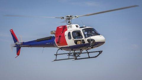 STYRTET: Det var et Helitrans Airbus AS 350 helikopter som styrtet utenfor Alta lørdag.