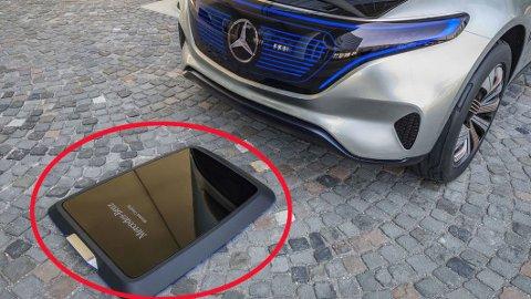 KABELLØS: Denne induktive platen skal gjøre det enklere å lade bilen – og den kan komme ganske snart.