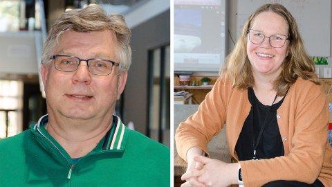 SØKER SEG TIL GRAN: Roy Korslien, rektor ved Benterud skole, og Marit Hunstad, rektor ved Hønefoss skole.