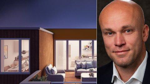 INGEN KORONA-STOPP: Lars Balstad Karlsen i Eiendomsmegler 1 er glad utbyggere fortsatt satser på nye prosjekter. Selv er han involvert i nye boliger i Ringerike og Jevnaker for tiden.