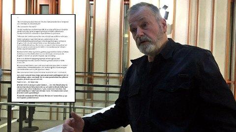SKREV BREV: Eirik Jensen lar lagdommer Halvard Leirvik få så ørene flagrer i et brev han har skrevet på fengselscellen i Kongsvinger. Spesialenheten får også gjennomgå. (Bildet av Jensen er fra en tidligere rettsrunde.)