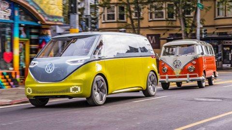 RETRO: VW har nå bygget om fabrikken og er snart klare for å produsere den retro-inspirerte VW ID. Buzz.