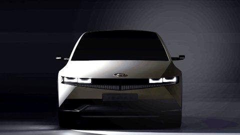 KOMMER SNART: I februar skal denne bilen ha verdenspremiere: Ioniq 5 er først ut i en stor elektrisk satsning fra Hyundai.