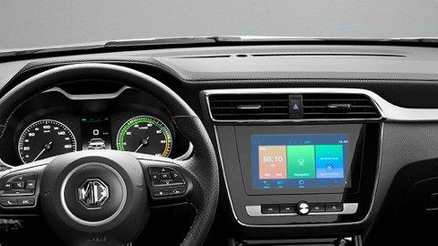 DÅRLIGST: MG ZS EV har etablert seg som en populær elbilmodell på det norske markedet. Men meningene er sterkt delte om infotainmentskjermen i bilen.