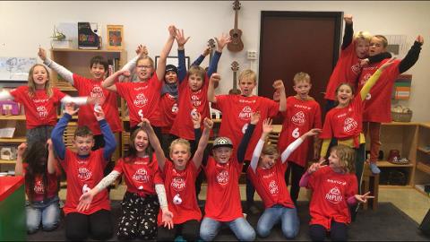 LAGET: Laget fra Ringerike Montessori synes at prosjektet har vært både miljøskapende og lærerikt i et annerledes år.