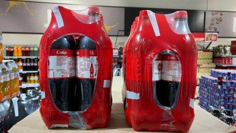 LITEN FORSKJELL: Ser du ikke forskjell på disse to pakningene, kan det bli dyr literpris. Foto: Halvor Ripegutu (Mediehuset Nettavisen)