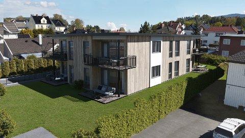 ALLE SOLGT: Seks leiligheter ble revet vekk på én dag. Illustrasjon: Sivilarkitekt Einar Martin Lundstad/Maestro media